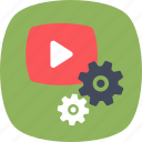 digital marketing, media player, video marketing, video production, video setting icon