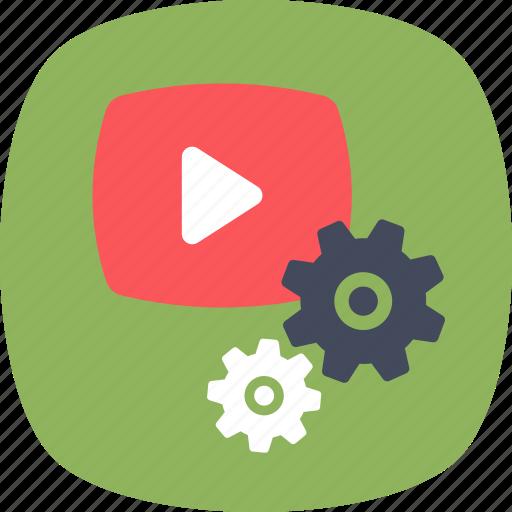digital marketing, media player, video marketing, video production, video setting icon