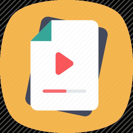 archives, file storage, folder, video clip, video file icon