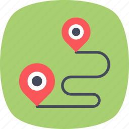 geography, global positioning service, gps, location navigation, travel distance icon