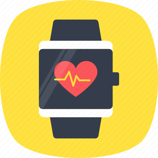 fitness tracker, heart rate monitor, heart rate watch, hrm watch, pulse watch icon