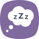 comic, dreaming, sleeping, speech bubble, zzz balloon icon