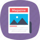 journal, magazine, media, news, publication icon