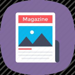 journal, magazine, media, news, publication icon