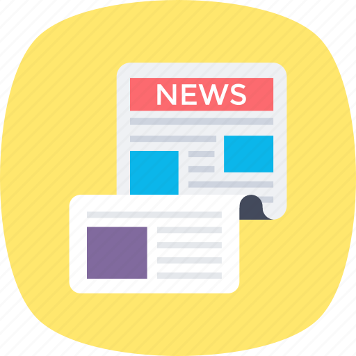 news, newsfeed, newsletter, newspaper, print media icon