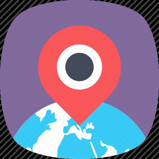 gps, location pin, map locator, map navigation, map pin icon