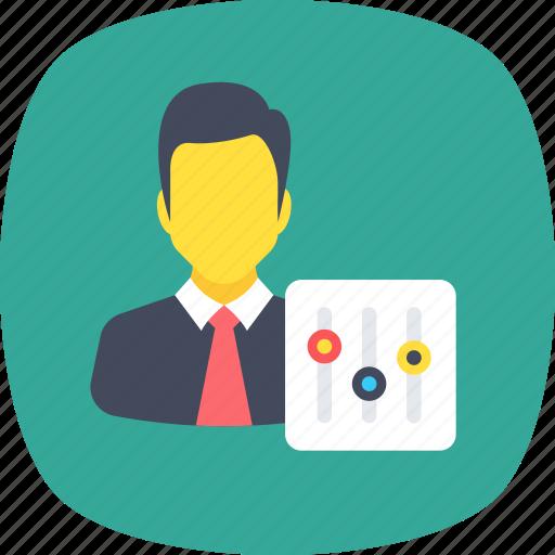 administrator, businessman, controller, developer, personal preferences icon