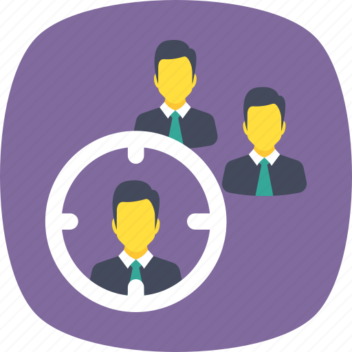 crm, staff research, target audience, target people, team building icon