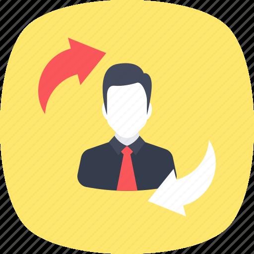 employee referral, employee turnover, rehiring, replacement, retention icon