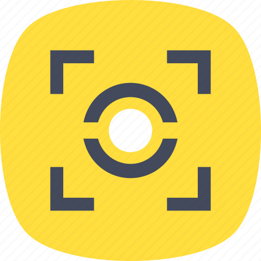 camera focus, focal point, focusing, photography, viewfinder icon