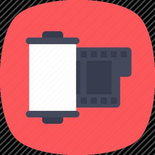 camera reel, film cartridge, film roll, movie reel, reel box icon