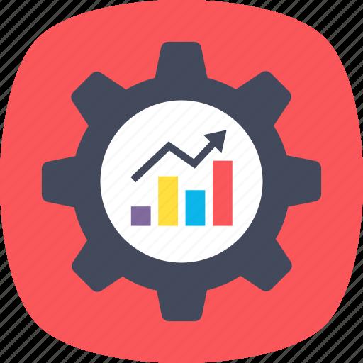 cms, content management, data management, data visualization, graph analysis icon