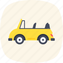 automobile, convertible car, roofless car, sports car, transport icon