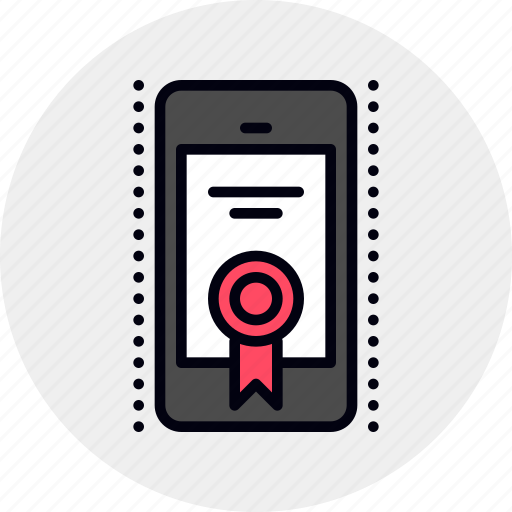 app, application, aproval, certificate, certification, mobile, registration icon