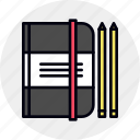 book, notebook, notepad, pocket, sketching icon