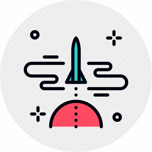 business, launch, ship, shuttle, space, startup, takeoff icon