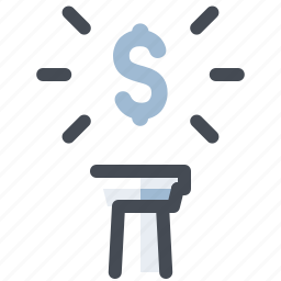 accounting, cash, currency, dollar, economy, finance, high icon