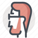 avatar, business, economy, geek, man, person, thinker icon