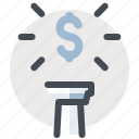 accounting, business, dollar, economy, finance, money, top icon
