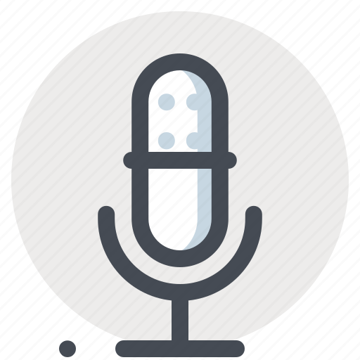 mic, multimedia, music, player, recorder, sound, speaker icon