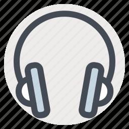 earphone, headphone, headset, multimedia, music, song, sound icon