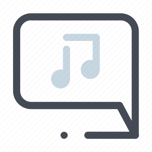chatting, music, music note, player, sound, sound tools, tune icon