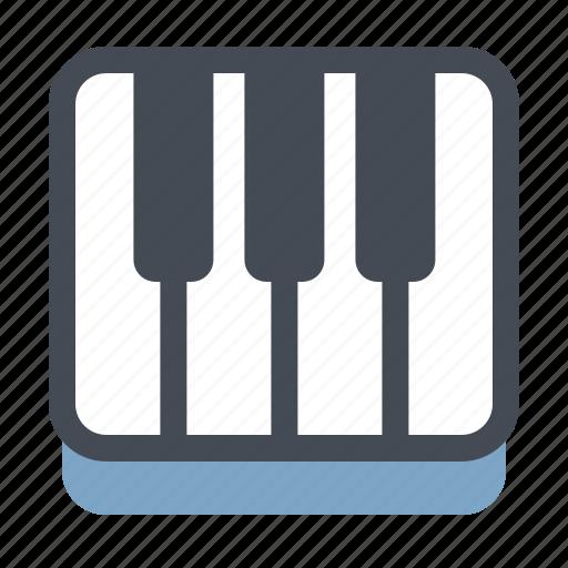 audio, music, musical instrument, piano, player, sound, speaker icon