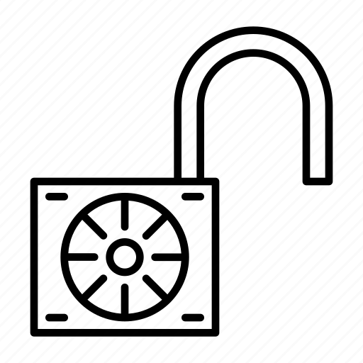 free, open, opened, unlocked, unsafe icon