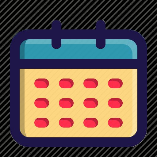 app, calendar, interface, plan, schedule, user icon