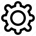 control, gear, interface, setting, ui icon