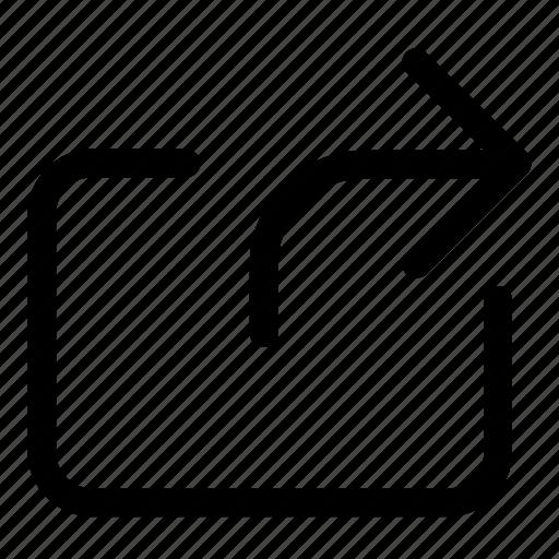 arrow, forward, send, share, upload icon