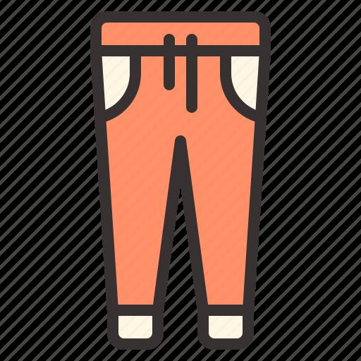 apparel, clothes, clothing, jogger, jogger pants, pants icon