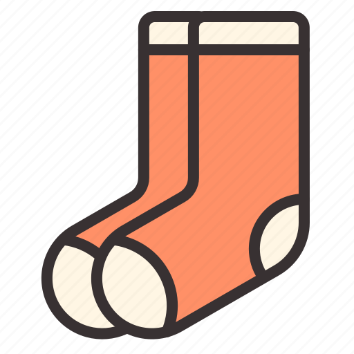 apparel, footwear, socks icon