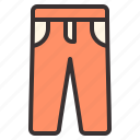 apparel, clothes, clothing, pants, trouser icon