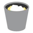 bin, full, recycle, recycle bin, trash icon