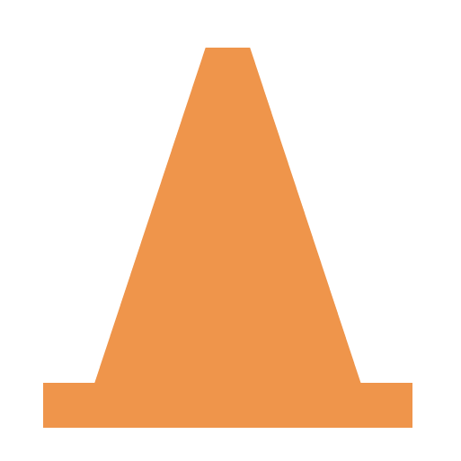 cone, player, traffic, video, vlc icon