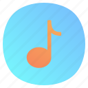 app, mobile, music, note icon