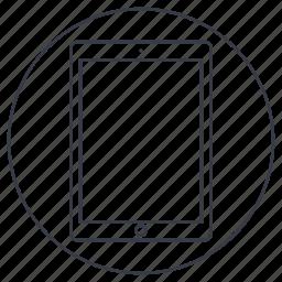 apple ipad, device, ipad, ipad 4, ipad retina icon