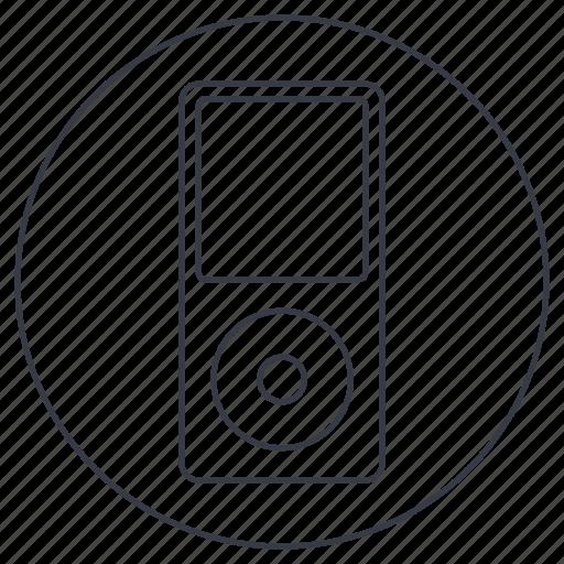 apple, device, ios, ipod, music icon