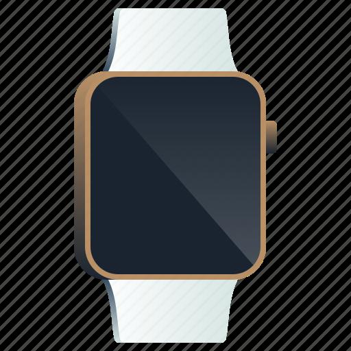 apple, clock, device, screen, smartwatch, watch, wristband icon