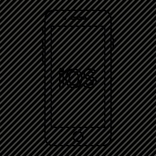 apple, ios, iphone, mobile, phone, screen, smartphone icon