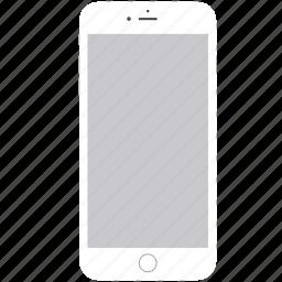 apple, ios, iphone6, mobile, phone, smartphone, white icon
