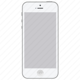 apple, ios, iphone5, mobile, phone, smartphone, white icon