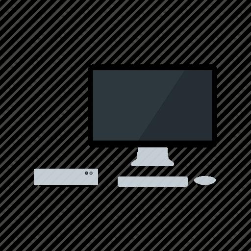 apple, desk, display, retina, set-up, thunderbolt icon