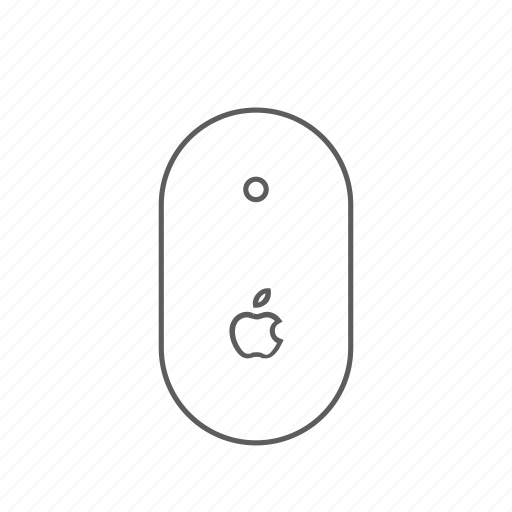 apple, mighty, mouse, outlined icon