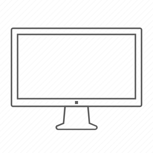 apple, cinema, display, monitor, outlined, screen icon