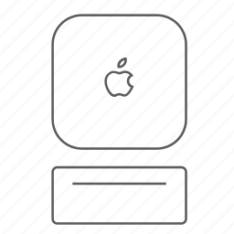 apple, mac, mini, outlined icon