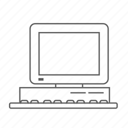 apple, computer, macintosh, outlined, pc, tv icon