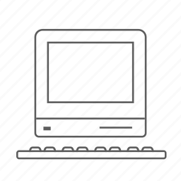 apple, computer, lc, macintosh, outlined icon