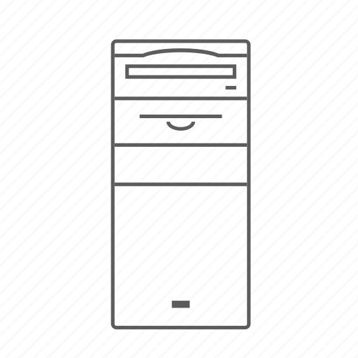 apple, computer, macintosh, outlined, quadra icon